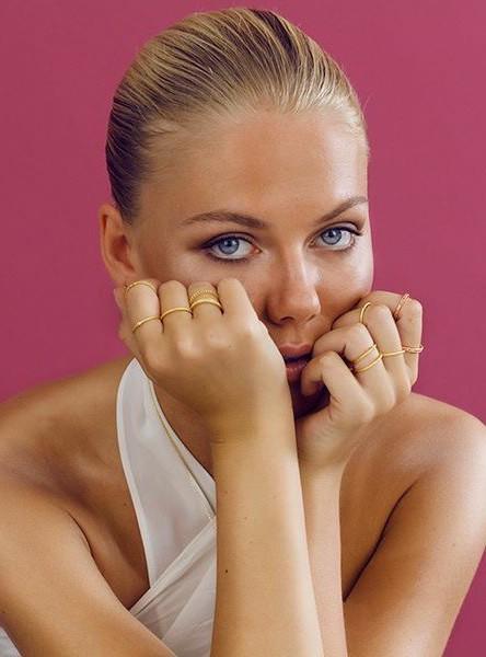 Beautiful blogger Freja Wewer for HVISK Jewellery.