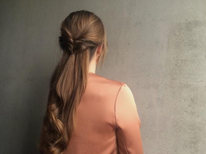 Simple hair updo