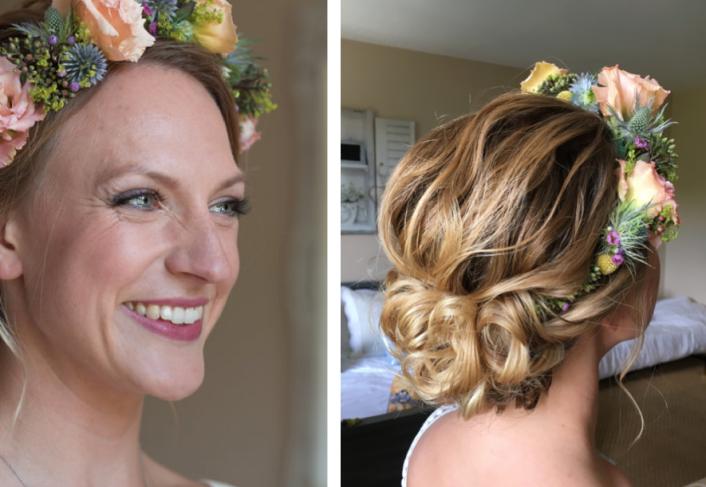 Hair & makeupartist Trine Juel, Wedding Julia 35
